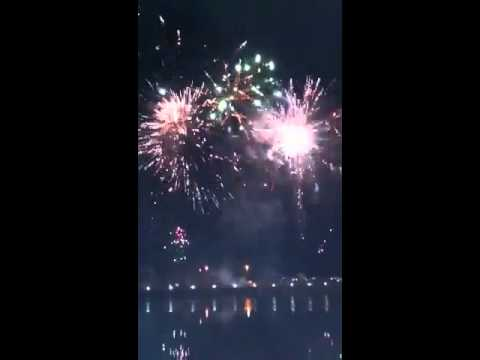 Darwin new year fireworks at waterfront