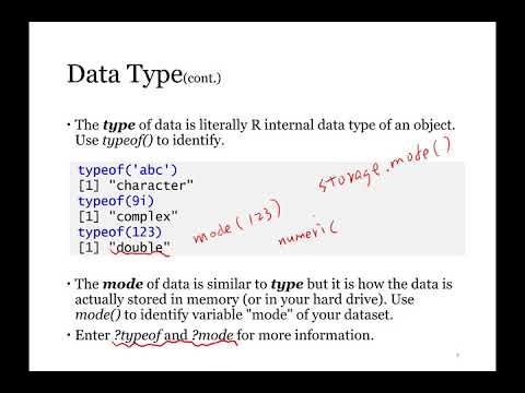 Unit 2 - Data Management and Analysis with R - 2 3 R Data