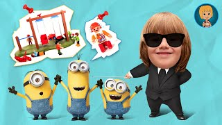 Minions Play Doh Stop Motion Animation For Kids Video with Funny Moments