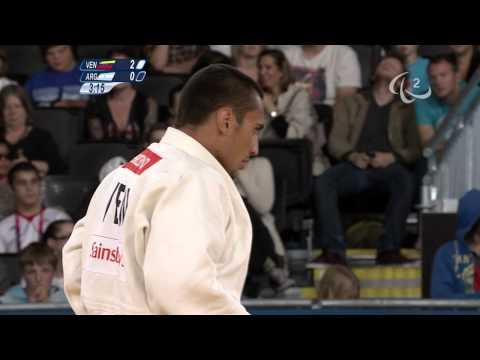 Judo - VEN versus ARG - Men -73 kg Repechage - London 2012 Paralympic Games