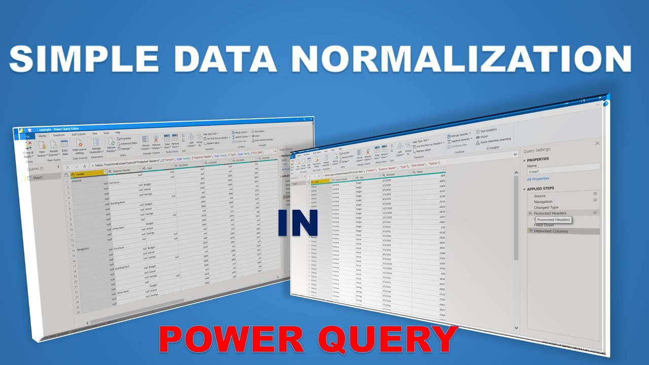 Simple Data Normalization in Power Query using Transformation Techniques