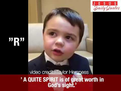 Tanner, 4 yr old boy recites Alphabet with Powerful  Bible verses