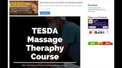 TESDA Massage Therapy Training Course 2019