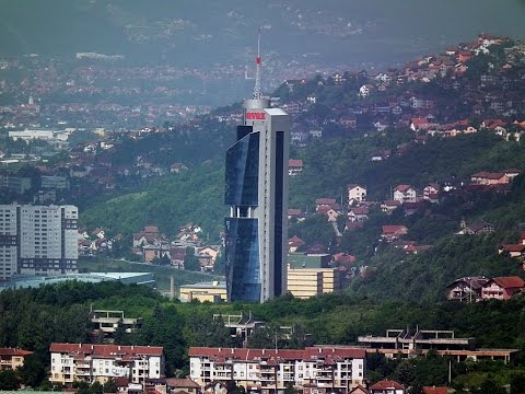 Sarajevo Avaz Twist Tower inside skyscraper  Bosnia and Herzegovina