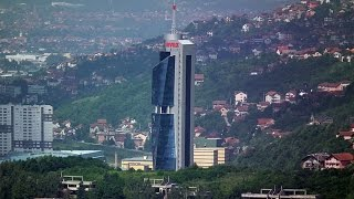 🇧🇦 Sarajevo Avaz Twist Tower inside skyscraper  Bosnia and Herzegovina
