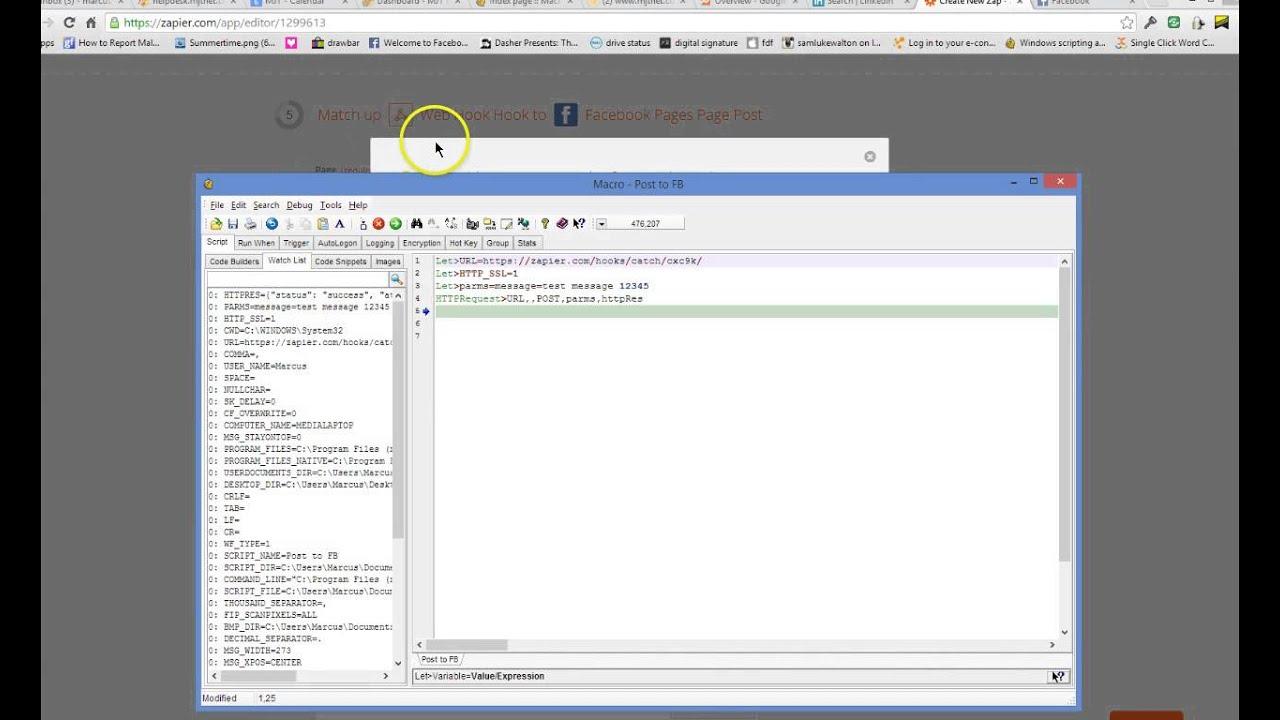 Automate Facebook with Macro Scheduler - Macro Recorder