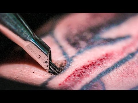 TATTOOING Close Up (in Slow Motion) - Smarter Every Day 122