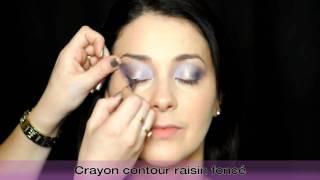 Maquillage lavande et doré avec une touche pailletée Thumbnail