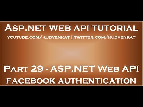 ASP NET Web API facebook authentication