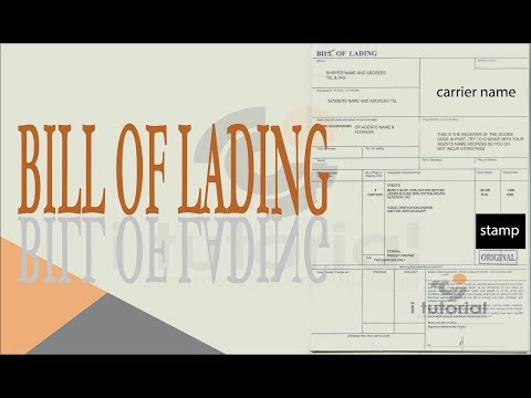 Bill of lading !! BOL !! BL!! delivery challan !! i tutorial !!