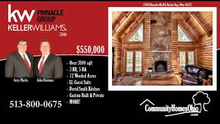 3 Bed 5Bath Log Cabin Home for Sale w/ custom David Smith Kitchen Clarksville, OH 45113