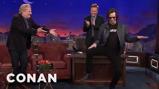 Jim Carrey Crashes Jeff Daniels' CONAN Interview  - CONAN on TBS by : Team Coco