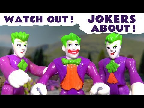 Joker in Jail Escape and more Toy Stories with Batman and Superman Superhero Toys for Kids TT4U
