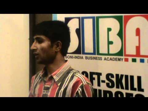 Soft Skill Course Student Testimonial - Soni-India Business Academy