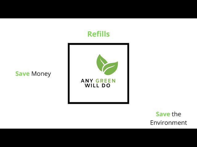 Refilling = Saves you money and Saves your Planet