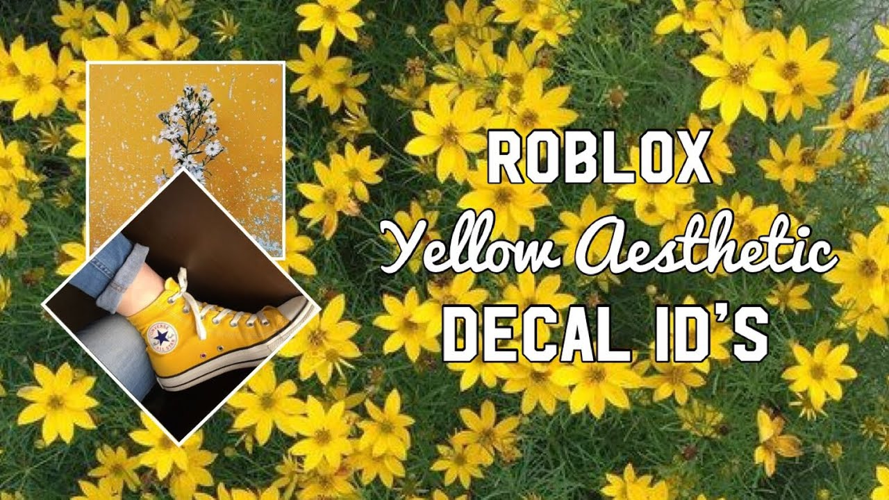 Roblox Aesthetic Yellow Background