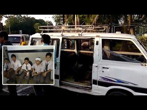 Sabri School Van Accident With Car In Vadodara, Five Students Injured