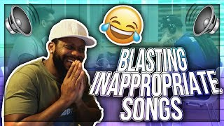 Blasting INAPPROPRIATE Songs (PART 10) in the Library PRANK   REACTION