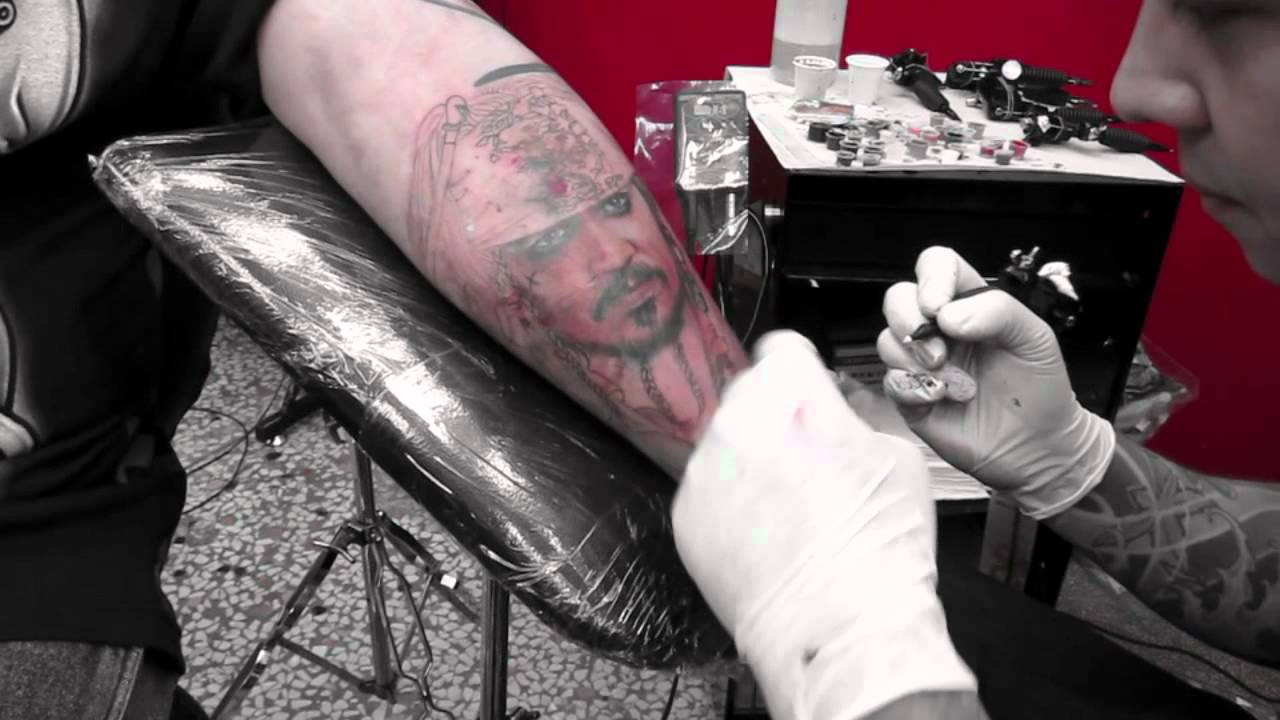 Pirates Of The Caribbean Johnny Depp Tattoo Part1 Night Action
