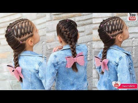 Peinados Fáciles Para Niña Paso a Paso / Tutorial trenzas de moda /WILVITA
