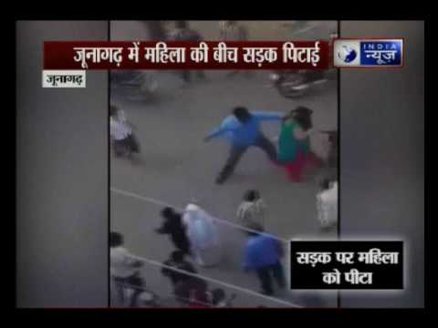Gujarat: Woman beaten up on road