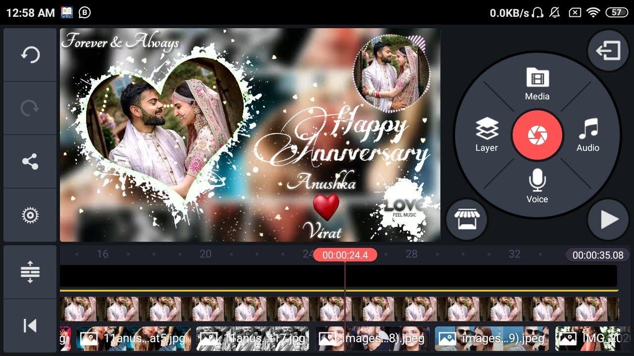 Wedding anniversary video editing kinemaster |marriage anniversary video background green screen