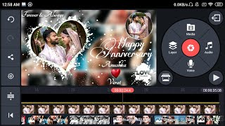 Wedding anniversary video editing kinemaster |marriage anniversary video background green screen