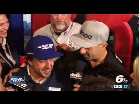 IndyCar driver Tony Kanaan interviews Fernando Alonso