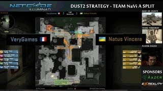 CS:GO Team NaVi Dust2 Cat Split A Take Strategy