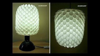 DIY#66 2 in 1 LAMPSHADE MADE OF RECYCLED SPOONS NEW VERSION