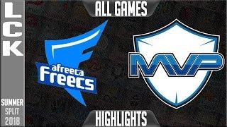 Video AFS vs MVP Highlights ALL GAMES | LCK Summer 2018 Week 3 Day 4 | Afreeca Freecs vs MVP download MP3, 3GP, MP4, WEBM, AVI, FLV Agustus 2018