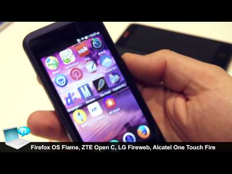 Firefox OS Flame, ZTE Open C, LG Fireweb, Alcatel One Touch Fire