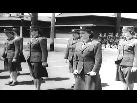 "1943 WAAC Recruiting Film ""We're In The Army Now"" (full)"