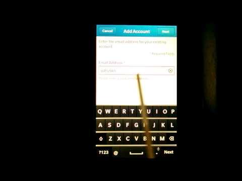 Menambahkan Email & Akun Sinkronisasi di Blackberry Z10