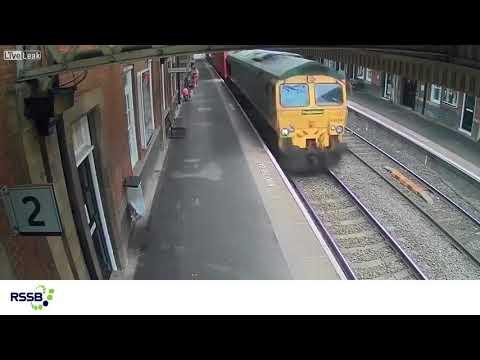 Train Sucks Pram Onto Tracks