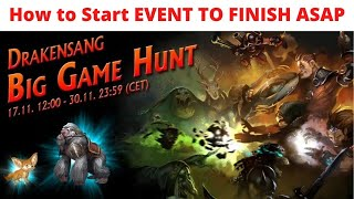 Drakensang Online Big Game Hunt Event How To Start The Event 2021