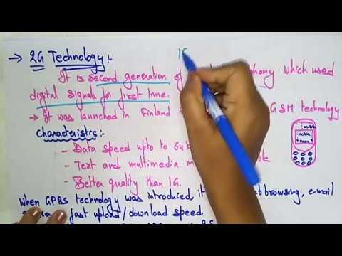 1g 2g 3g 4g 5g technology | Mobile Computing | Lec- 5 | by Bhanupriya