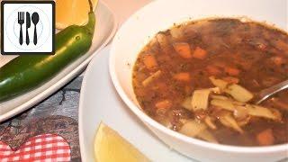 Суп из зеленой чечевицы с лапшой - Как приготовить чечевицу. Вегетарианский рецепт