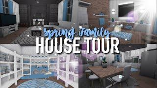 SPRING FAMILY HOUSE TOUR | Roblox Bloxburg | Arabellaa