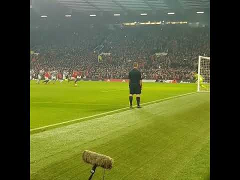 Alexis Sanchez penalty - Manchester United versus Huddersfield.[Old Trafford]