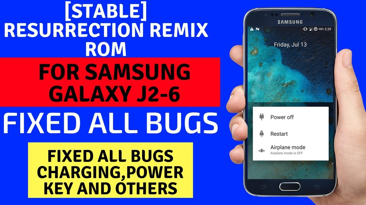 [Stable] Resurrection Remix Rom For J2-6 Fixed All Bugs
