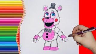 How To Draw (Helpy) Funtime Freddy, FNaF, Как нарисовать Хэлпи Фантайм Фредди, ФНаФ