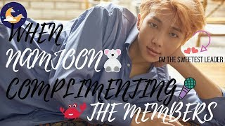 Video BTS NAMJOON APPRECIATION : Leader's hobby is complimenting the members download MP3, 3GP, MP4, WEBM, AVI, FLV Juni 2018