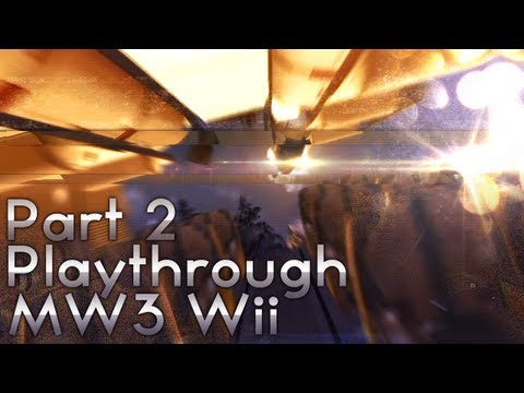 MW3 Wii - Let's Play Part 2 w/ Live Comm