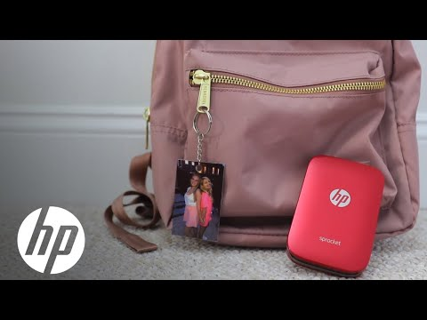 Porta-chaves com foto DIY - Impressora fotográfica HP Sprocket - HP - 동영상