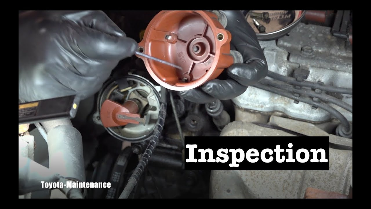 Toyota Ignition Distributor Cap and Rotor Inspection