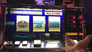 Triple Red White & Blue Slot - 2x 5x 10x Bonus Frenzy Slot JACKPOT - High Limit