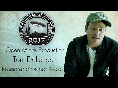 Tom DeLonge - 2017 - UFO Researcher of the Year Award