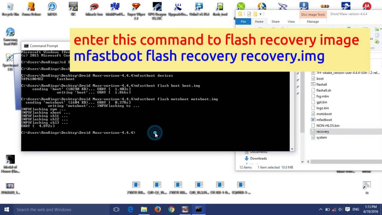 How to flash motorola devices using mfastboot commands