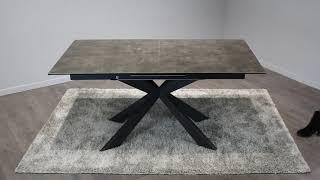 Vidéo: Table de repas extensible céramique gris anthracite - STARLIGHT